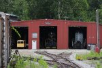 The Hocking Valley Scenic's three bay shop