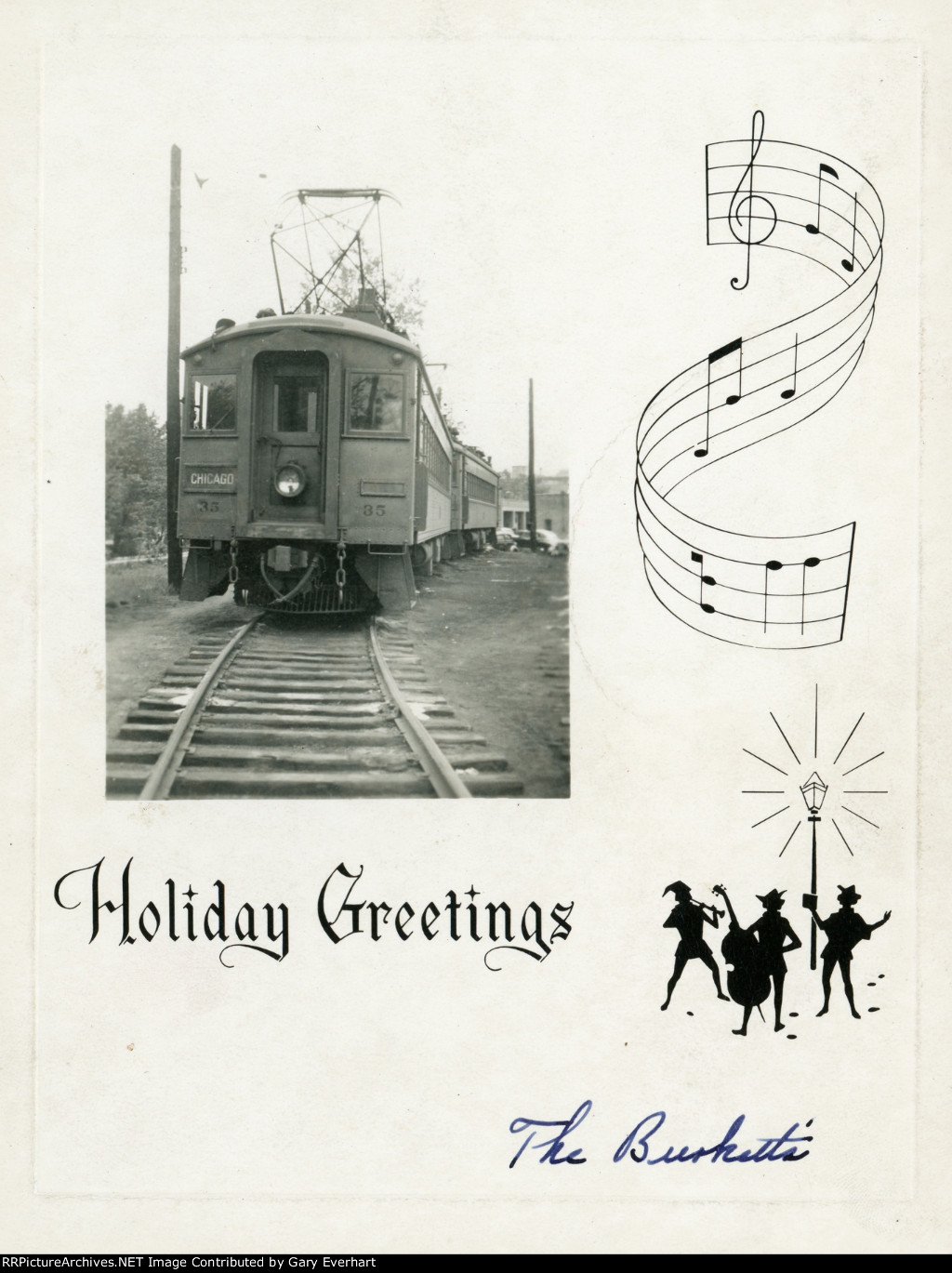 Chicago South Shore & South Bend Christmas Card
