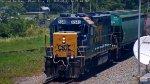 CSX 6348 Leads a Local