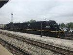 IC 1027 and 1019 Arrive at the Homewood Amtrak Platform.