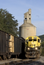 NYSW 3012 under the ex Erie coaling tower