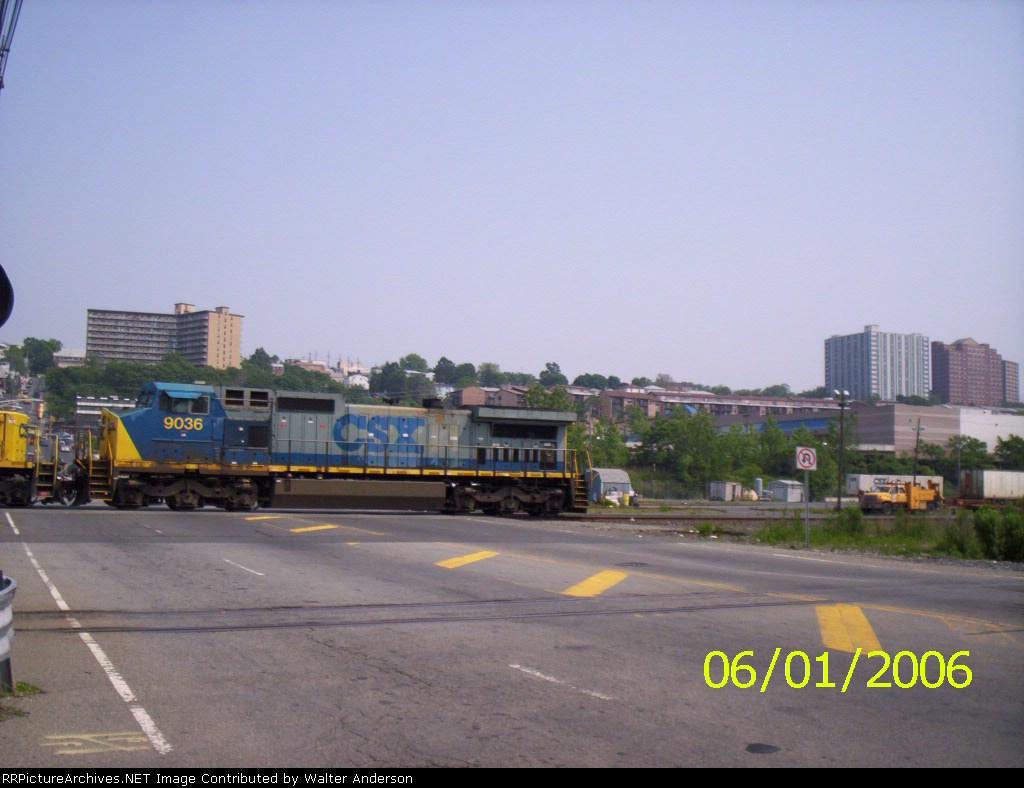 CSX 9036 heads into the 69th St. yard
