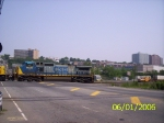 CSX 9036 heads into the 69th St. yard