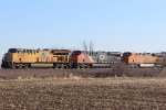 UP 2656, CN 2838, and BNSF 7343
