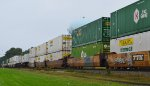 DTTX 723929-B with two 53 ft.Containers, and DTTX 732069 with two J B Hunt Intermodal Containers