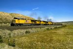 UP 5861 W/B UTAH RWY Coal Train