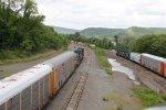 NS trains exiting Enola yard
