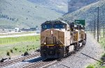 UP 6486 leads a stack train up Echo Canyon