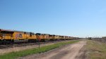 UP SD70AH-T4 locos lined up in Sidney, Nebraska