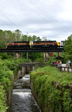 CVSR 1822 & 6771 retreat from Akron's Northside Station.