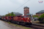 CP 581 crude oil empties roll past City Lights Brewery