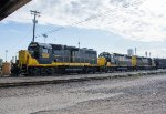 WAMX 3835 and two other Geeps switch the yard