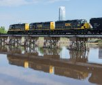 A trio of WAMX Geeps pull out over the Oklahoma River