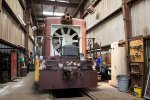 FMRC 169 is getting worked on in the Farmrail shops