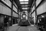 B&W view of FMRC 169 being worked on