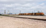 A BNSF intermodal heads out of Amarillo for points east