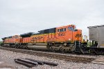 Two DPU's bring up the rear of an eastbound coal train