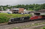 NS 3676 passes the Tunnel Inn just before ducking into the Gallitzin tunnel