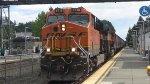 BNSF 6718 Leads a Grain Train