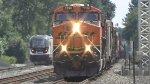 BNSF 7298 Leads a Manifest Train