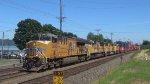 UP 2682 Leads an Intermodel Train