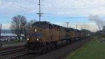 UP 5851 Leads an Intermodal Train