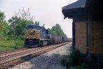 CSX Westbound Coast empties Pass Norge Depot
