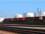 Two BNSF H1s and a KCS Belle in the Commerce yard.
