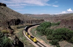 Santa Fe eastbound in Crozier Canyon
