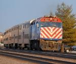 METX 132 on Train 57