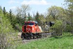 CN 3827 and The Northbound Covered Hoppers Wait Some More.