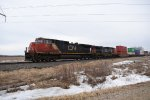 CN Flying Through Medina Junction as Winter Refuses to Leave Wisconsin