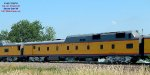 Power car accompanies the Big Boy eastbound south of Beaver Dam on its summer Midwest tour