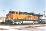 Up close shot of BNSF 5857