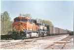BNSF 5857 awaits its crew at Ft. Scott, Ks.  Lead unit on southbound coal train