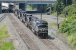 NS 1802 leading train 15T out of Enola yard