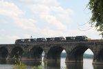NS Train 15T has departed Enola yard and is crossing Rockville bridge