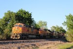 BNSF 5052 holds a manifest at Fauna
