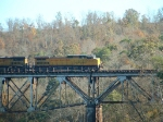 UP 9569 leads a southbound train over the Mulberry Fork of the Warrior River