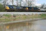 CSX power for grain train