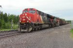 CN NB freight heading toward Canada