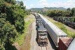 NS 7215 leads train 18N into Enola yard