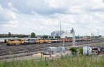Stored Units fill the east end of Northtown Yard