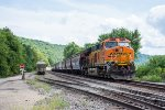 BNSF 3740 serves as the rear DPU on an eastbound grain train