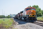 BNSF 295 leads a manifest west on the Staples Sub
