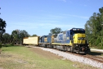 CSX 5953 leads the Starke local as it backs onto the  CSX main to return to Starke
