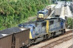 CSX 5816 is on the point of A766 and watches N172 head south