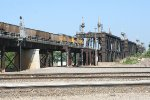 Coal train heading for the double deck bridge
