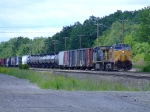 UP 6535 leads a manifest into the yard