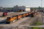 BNSF7890, BNSF7927, BNSF7026, and others outsie the depot